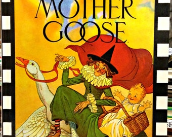 The Real Mother Goose; Illustrated by Blanche Fisher Wright; Large Book with Over 280 vintage rhymes