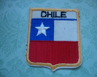 Chile Country Patch Label National Flag Travel Souvenir  127