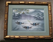 Signed Asian Painting on Canvas