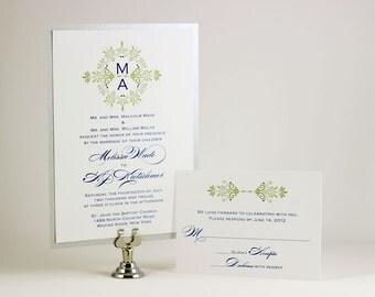 Monogram Wedding Invitation - Sample