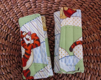 Reversible Car Seat Strap Covers - Winnie the Pooh Fabric