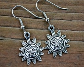 Silver Suns . Earrings