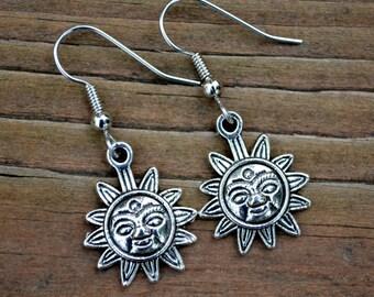 Silver Suns . Earrings