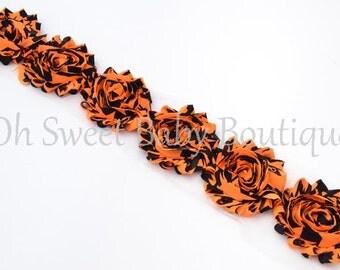Halloween Shabby Chiffon Flower QTY 6
