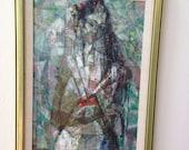 Signed Cubist Japanese Bride Original Painting