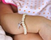 First Pearls christening Baby Bracelet-Baby Jewelry-Newborn Bracelet- baptism