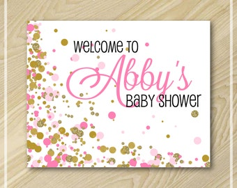 Pink and Gold Party - Welcome Sign