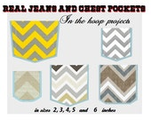 Real  Applique Pockets - 5 styles set - Jeans and Chest pockets-  machine embroidery applique design In-the-Hoop - 4x4 and 5x7