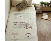 1 Yard - Korean Linen Cotton Blended Fabric - Laundry & Kitchen 4 Cut
