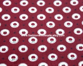 Half Yard - Japanese Cotton Fabric - Mini Apples, Red