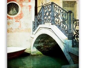 "Venice Photography, Italy photos, canals of Venice, Venice decor, bridges of venice, green waters - ""The Refuge"" - Fine Art Photograph"