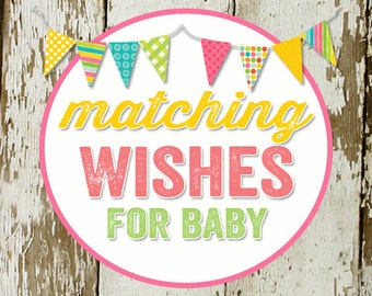 WISHES for BABY to match any invitation for baby shower or bridal shower, digital, DIY printable file
