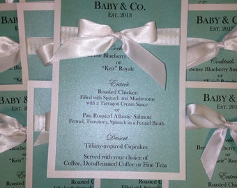 Bride and Co/Baby and Co Menu Cards