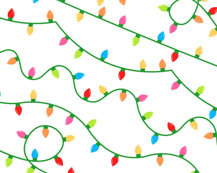clipart of christmas lights - photo #43