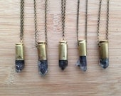 TIBETAN QUARTZ Bullet Necklace in 40mm 45mm Bullet Shell Casing