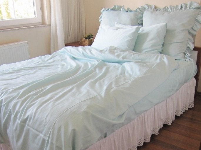 Solid White Pale Blue Pink Twin Xl Full Queen King Duvet