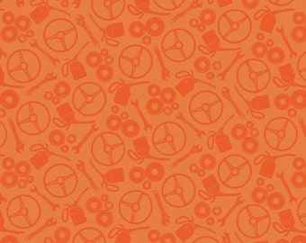 Auto Orange Tonal Scatter from the Henley Studio Collection by Makower UK