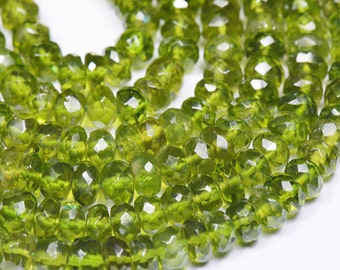 "4mm - 5mm 15"" Vesuvianite faceted beads deep green color also known as IDOCRASE IDCR001"