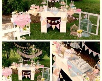 Tea Party Birthday, Teacups and Tutus Birthday Party, Tea Party Invite, Tea Party Printables, Tea Party Decorations, Lauren Haddox Designs