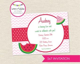 DIY, Watermelon Birthday INVITATION