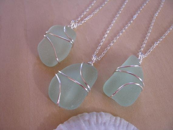 Beach Wedding Bridesmaid Gifts: Bridesmaid Gifts Beach Wedding Jewelry Sea Glass By