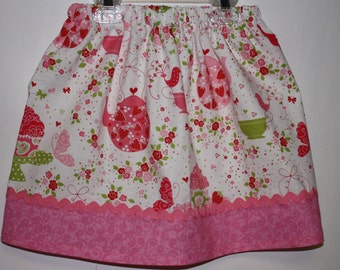 Tea Party Skirt  Size 2 - 7