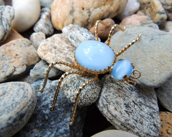 Moonstone bug brooch           VJSE
