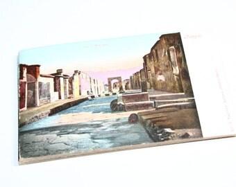 25 Vintage Pompei Italy Postcards Blank - Wedding Guestbook