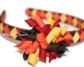 Traditional Fall Woven Headband with Removable Korker Hair Clip