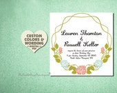 PRINTABLE Floral Wedding Invitation DIY Paper Goods Engagement Party Anniversary Bridal Shower Baby Reception Template Elegant Online Custom