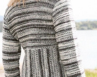 Knit Striped Jacket / Sweater w/ Curved Front - Made to order