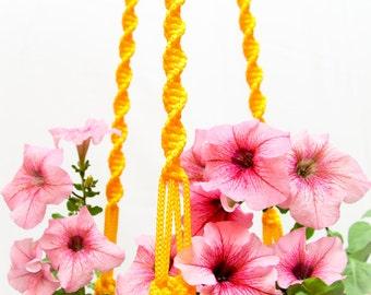 """Gardening Gift ~ Hanging Planter ~ Gift for Gardener ~ Macrame Plant Hanger 50"""" ~ Long Plant Holder ~ Gardener Gift ~ Garden Decor"""