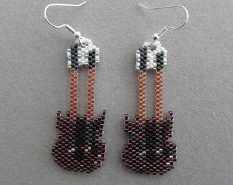 Dubbele nek gitaar Beaded Earrings