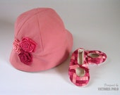 SEWING PATTERNS Baby Girl Hat Girl Shoes Pattern PDF Baby Booties Easy Sewing