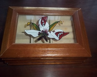 Vintage Centurion  Jewelry Box with glass lid insert and velvet lined