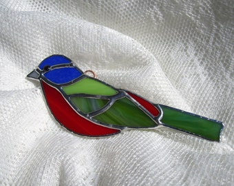 Painted Bunting Ornament / Suncatcher