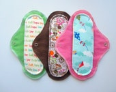Menstrual Cloth Pads AIO Style Heavy Flow 3-Pack