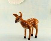 Needle Felted Fawn Baby Deer / Easter keepsake / Spring / nursery decor