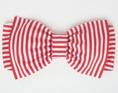 Striped lycra Swim Fabric Bow Bandeau with Padding