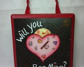 Bee Mine Heart hang
