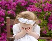 Crochet Baby Girl Crown. Princess Baby Girl Crochet Crown - Baby Girl Crown Photo Prop
