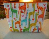 Giraffes cosmetic/accessory bag