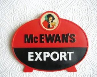Vintage Advertising McEwan's Export Plastic Bar Sign