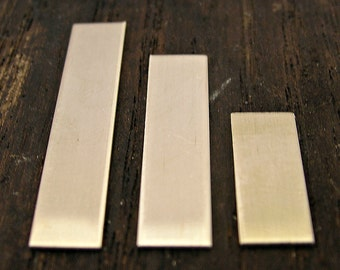 Sterling Silver Metal Blank - Rectangle Tag - Hand Stamped Jewelry - Jewelry Supplies - Jewelry Making - Rectangle Pendant - 18 Gauge Tag