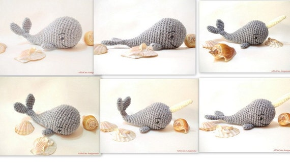Items similar to Amigurumi Whale Pattern - Crochet Whale ...