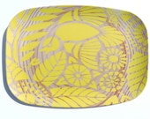 "Indian Lace Wood Grain 14"" Platter, Sunshine Yellow"
