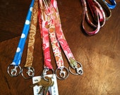 Fabric ID Badge Lanyard with Key Ring and Clasp