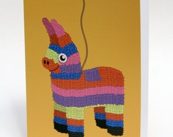 Piñata Birthday Card, Birthday Pun, Funny Birthday Card