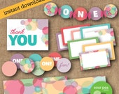 "INSTANT DOWNLOAD: DIY Printables - Party Pack - ""Bubbles"""