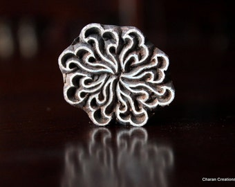 Indian Wood Block Stamp - Sunburst or Stylized Flower